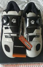 new spin road Cycle white silver shoes SPD SL clip cleat boa buckle size 7 EU 41