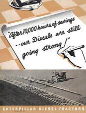 Caterpillar Diesel Tractors 10,000 hours Booklet 1938