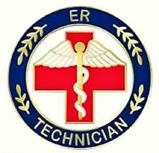 ER Technician Lapel Pin Emergency Room Tech Red Cross Medical Graduation 105 New