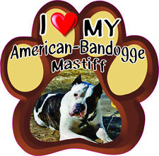 I Love My American-Bandogge Mastiff Cute Dog Bumper sticker Paw #200