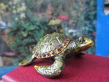 Sea Turtle Bejeweled Trinket Box #3304
