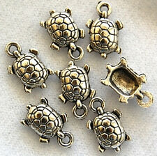 20 Turtle Tibetan Zinc Alloy Lead Free Beads Charms Loose Jewelry Making Craft