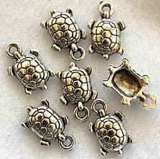 20 Turtle Tibetan Zinc Alloy Lead Free Beads Charms