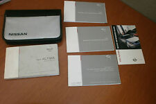 2004 04 NISSAN ALTIMA OWNERS MANUAL SET WITH CASE