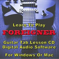 FOREIGNER Guitar Tab Lesson CD Software - 11 Songs