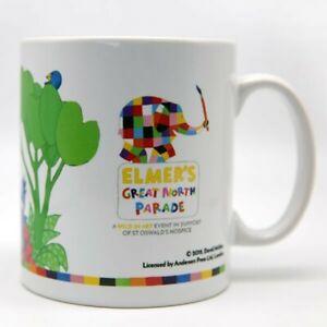 Elmer The Patchwork Elephant White Mug Ideal For Coffee Tea St Oswald's Hospice