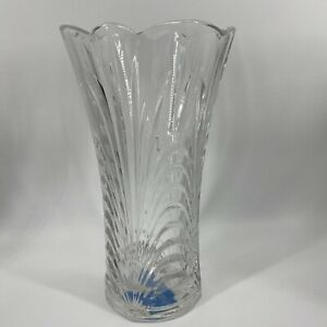 "Mikasa Celebrations Emerald Brilliance Collection Glass Cut Crystal Vase 10"""