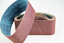 "Ten Sanding Belts 100x610mm (4x24"") 40grit. Industrial cloth backed. ABRB424040"