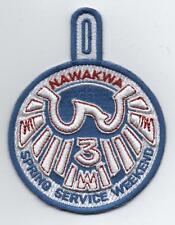OA Nawakwa Lodge 3 Activity Patch, 2012 Spring Service Weekend (eR2012-1)