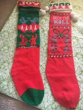 Vintage Sock/sweaterStocking Set Of 2