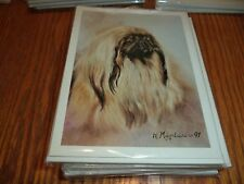 PEKINGESE  NOTE CARDS SET  - BEST FRIENDS BY RUTH MAYSTEAD