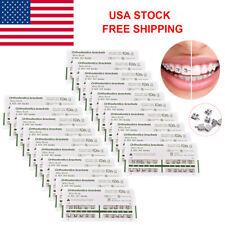 20 Packs Orthodontic Dental Brackets Brace Mini Roth 022 Slot 345 Hooks Metal US
