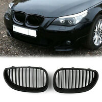 Matt Black Front Grille / Front Kidney Grill For BMW E60 E61 5 Series 2003-10 T0