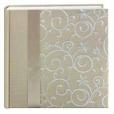 "Pioneer Photo Album 4""X6"", 2-Up, 200 Pocket Embroidered Scroll Fabric Ribbon Pho"