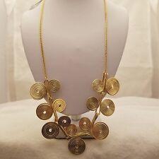 Gold Swirl Design 18 Inch Necklace