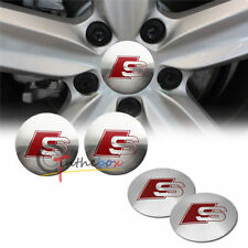 BRAND NEW 4x For Audi Sline Car Wheel Center Hub Cap Emblem Badge Decal Sticker