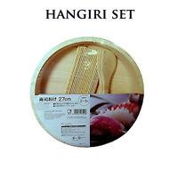 Hangiri Set in Legno con Accessori Preparazione per Riso Sushi Diametro 27 cm.