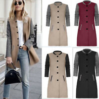 Trench Parka Jacket Overcoat Outerwear Slim Winter Warm Long Coat Fashion Womens