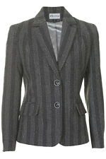 Busy Ladies Black and White Wool Blend Jacket