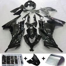 Glossy Black Injection Fairing Kit for Kawasaki Ninja 300 EX300 2013-201714 15