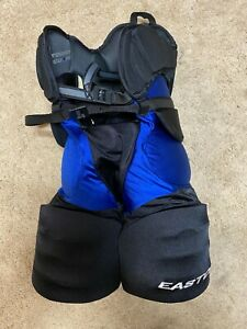 PITTSBURGH PENGUINS Easton Senior New Pro Stock Hockey Girdle pants Blue Black
