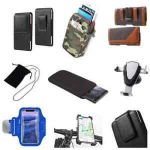 Accessories For SHARP AQUOS V (2019): Case Sleeve Belt Clip Holster Armband M...