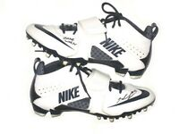 TIQUAN UNDERWOOD NEW ENGLAND PATRIOTS GAME WORN SIGNED WHITE & BLUE NIKE CLEATS