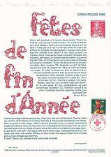 Document Philatélique Timbre 1er Jour : 05/11/ 1998 - Croix Rouge Fêtes