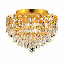 4 LIGHT SEMI FLUSH MOUNT CHANDELIER CRYSTAL DINING LIVING ROOM HALLWAY BEDROOM