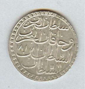 Turkey Ottoman 2 ZOLOTA silver coin Mustafa III  1181 year 11
