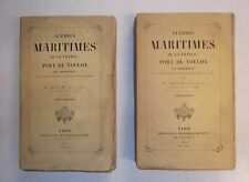 Toulon.Guerres Maritimes de la France:Port de Toulon.V.Brun.2/2 Vol.Edit Or.1861