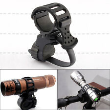 Bike Cycling 360° Rotation Flashlight Torch Mount LED Light Holder Clamp Clip