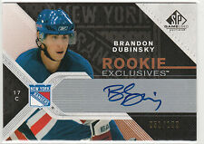 2007-08 SP Game Used Rookie Exclusives Autographs #REBD Brandon Dubinsky 51/100