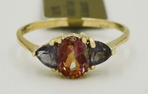 AZOTIC TOPAZ 1.12 Cts & ALEXANDRITES RING 10K GOLD *** NEW WITH TAG ***