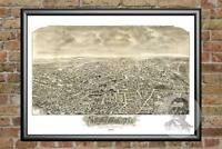 Old Map of Newton, MA from 1897 - Vintage Massachusetts Art, Historic Decor