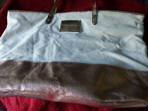 Victoria Secret Rose Gold And Creme Tote Weekender Pool Bag Handbag