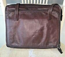 TIGNANELLO Dark Brown Leather Briefcase Accordion Organizer Business Lap Top Bag