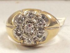 Men's Wedding or Everyday ring 14k Yellow Gold Natural Diamond over.75tcw