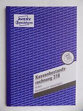 Zweckform 318 Kassenbestandsrechnung 50 Blatt Format A5