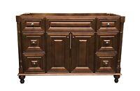 "48"" Maple Walnut Single Bathroom Vanity Base Cabinet 48"" W x 21"" D x 32""H"