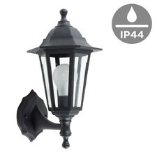 Traditional Black IP44 Outdoor Garden Patio Wall Security Light Lantern Lamp