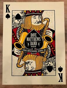 Dave Matthews Band DMB concert poster King Gorge 2009  Hand Numbered # 853