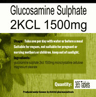 Glucosamine Sulphate 2KCL 1500mg One Years Supply x 365 tablets