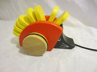 """Ikea Wooden Pull Along Toy Black Red Yellow Clacking 6"""""""