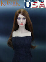 "KUMIK 1/6 Anne Hathaway Head Sculpt KM035 For 12"" Hot Toys PHICEN Female Figure"