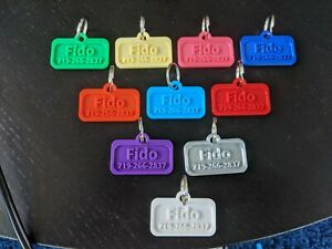Pet tags non metal. Pet ID tag. Lost and found Keychain. Personalized pet charm.