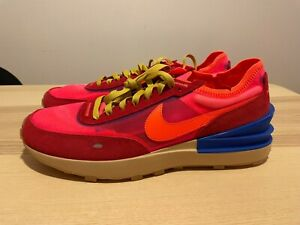 NEW NIKE WAFFLE ONE Red Blue Sneakers Mens SIZE 14 RARE DA7995-601