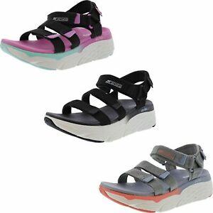 SKECHERS WOMEN'S MAX CUSHIONING -SLAY HOOK & LOOP SPORT SANDALS Beach sandals