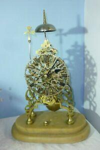 Very Pretty Victorian Brass Passing Strike Chain Fusee Skeleton Clock