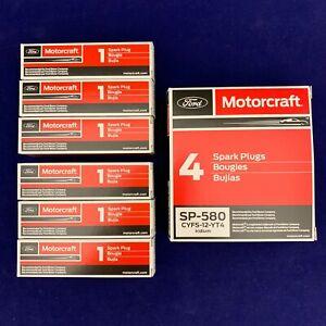 Set of 6: OEM Ford Motorcraft Iridium Spark Plugs SP-534 SP-580 CYFS-12-YT4